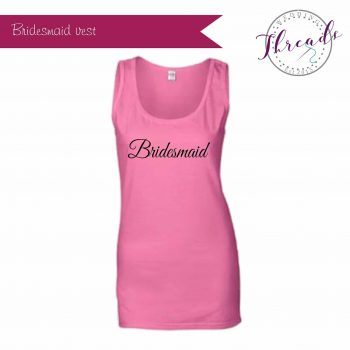 Bridesmaid hen party vest