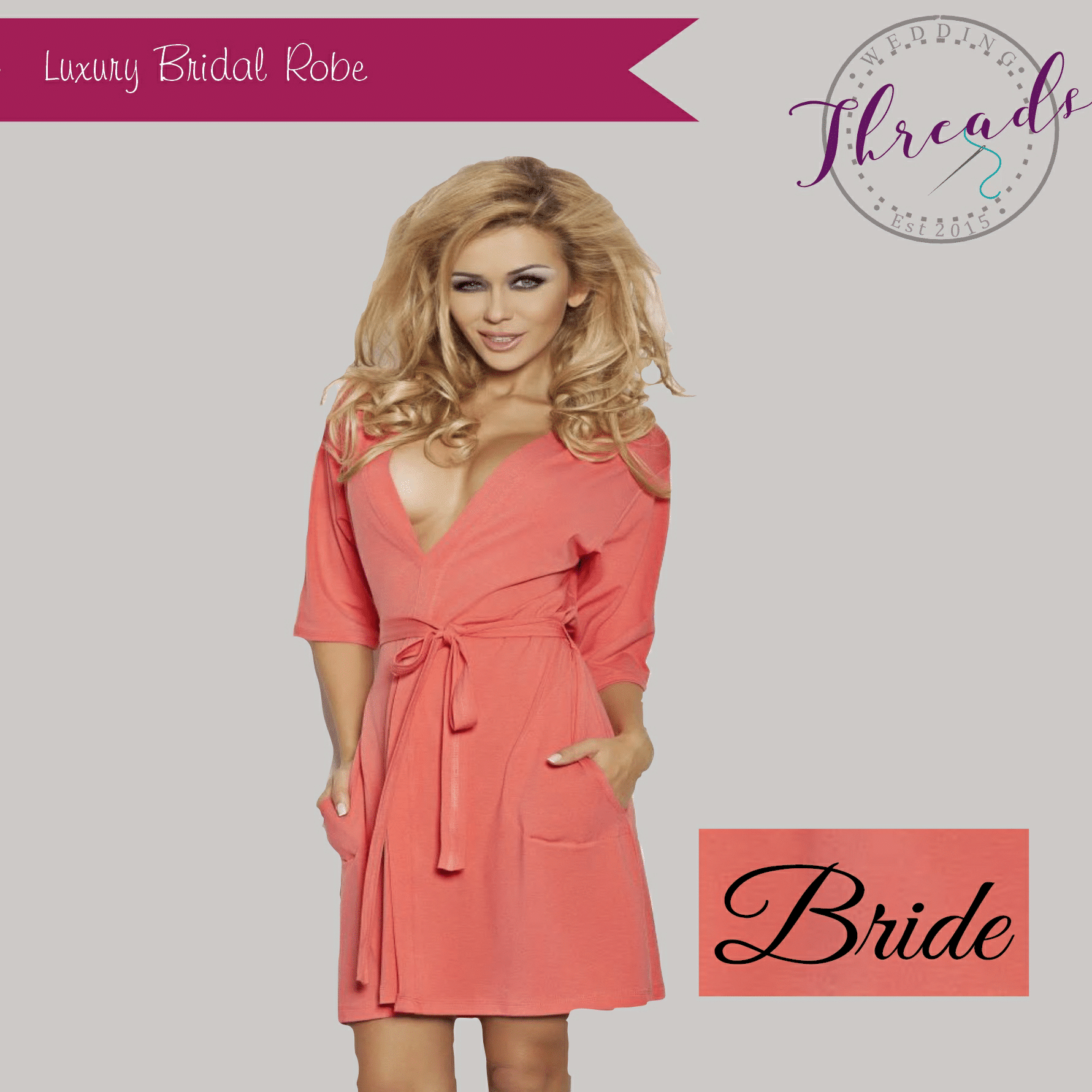 luxury wedding robe