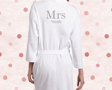 Mrs Smith cotton robe.