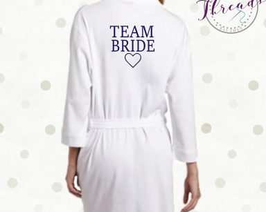 Team Bride cotton robes