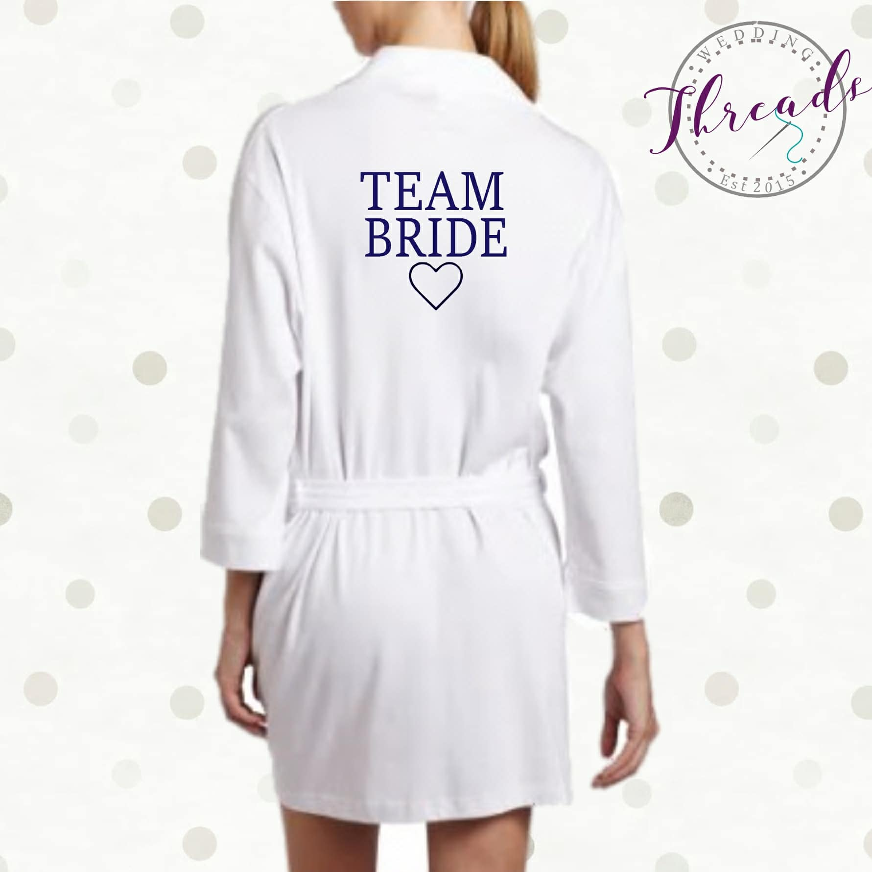 best prices cheap for sale super cheap Personalised Team Bride robes
