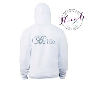 Personalised Bridal zipped Hoodie