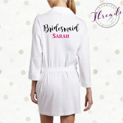 Bridesmaid cotton robe