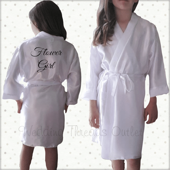 Childrens dressing gown, personalised Bridesmaid robe, mini ...