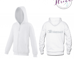 childrens Bridesmaid zipped sweatshirt hoodie