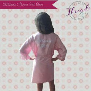Childrens Flower girl satin robe