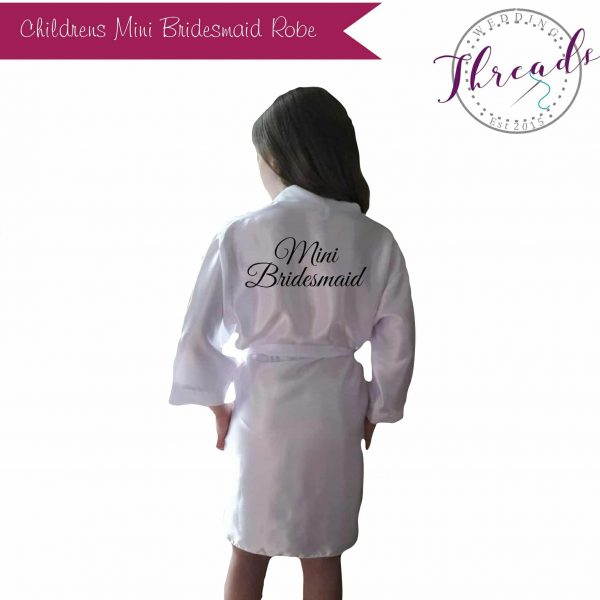 Childrens Mini Bridesmaid satin robe
