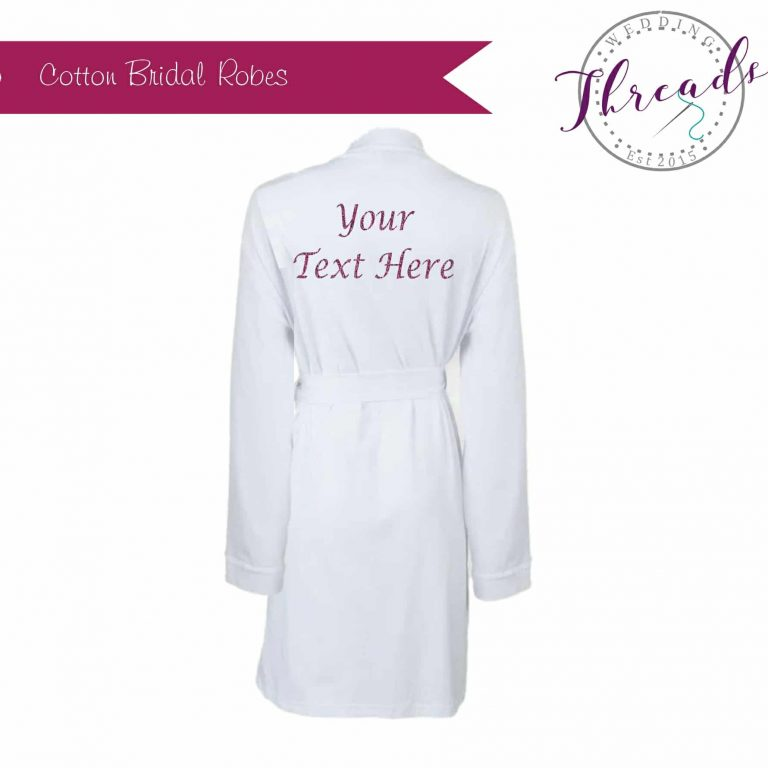 Cotton Personalised robes