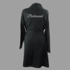 cotton robe black bridesmaid