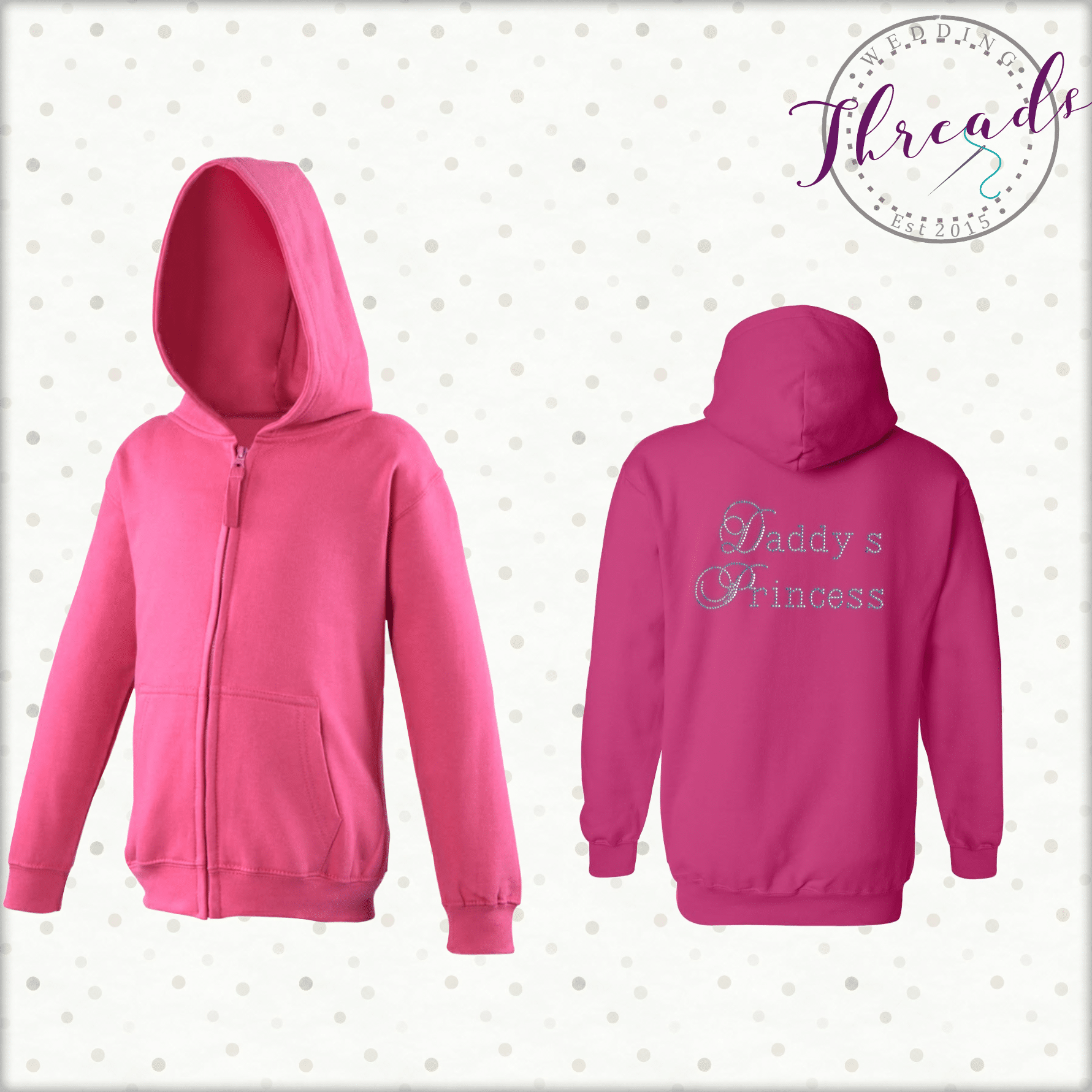 Childrens Zipped Sweatshirt Hoodie