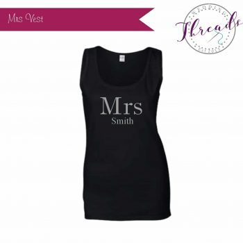 Personalised Bride Mrs Vest