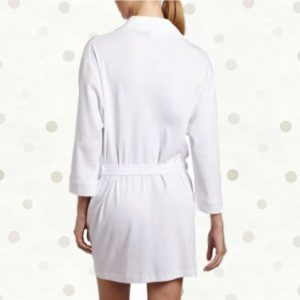 White Cotton Jersey Robes