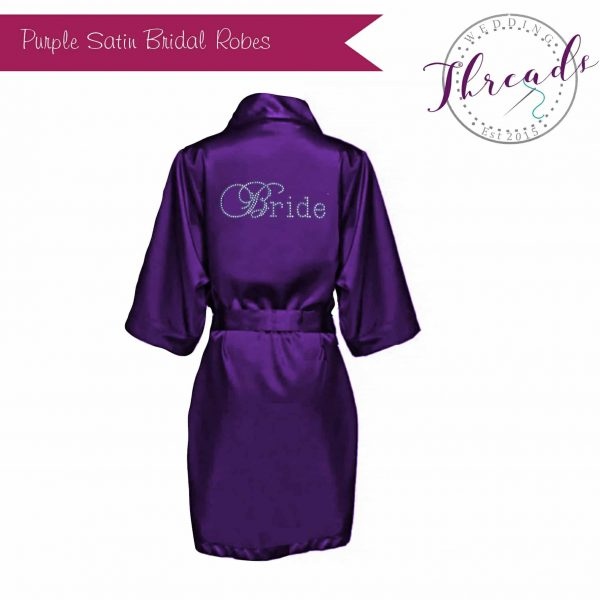 Single Satin Robe Dressing Gowns