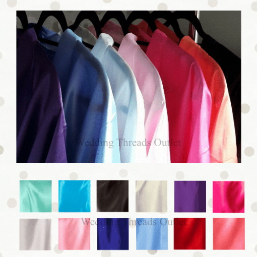 satin robe colour chart