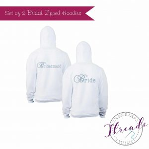 Personalised Bridal zipped Hoodie set