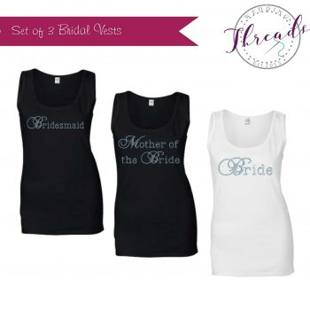Personalised wedding vests set