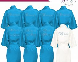 Wedding satin robes