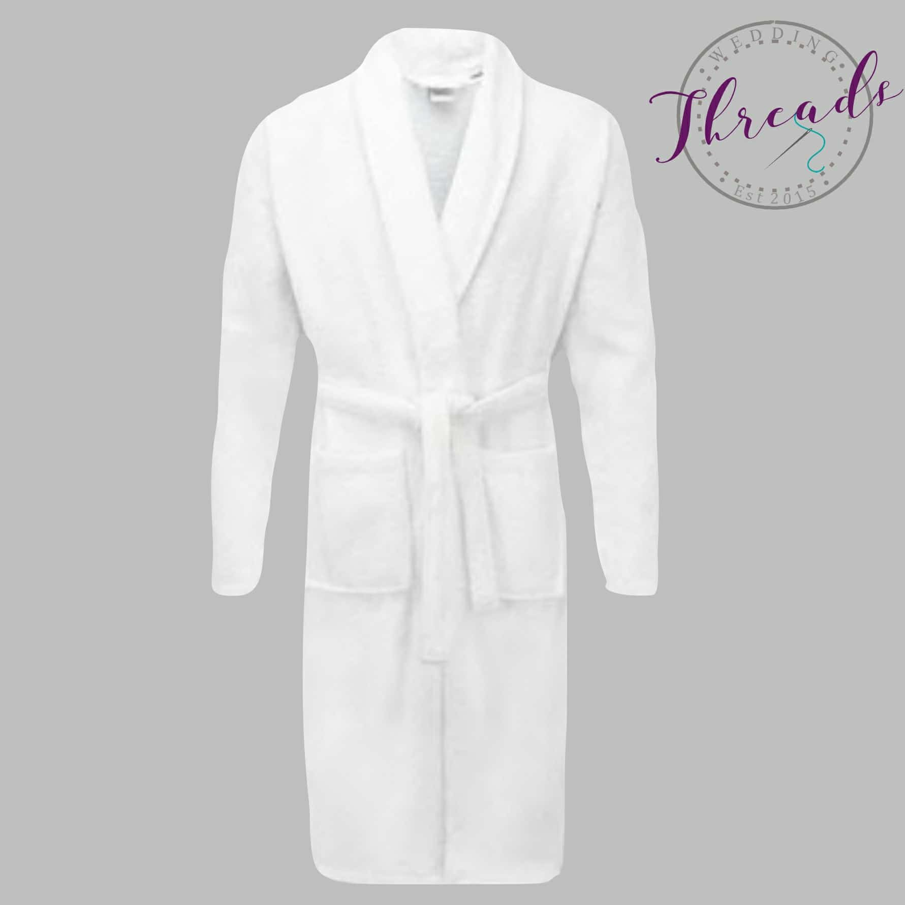 Personalised terry toweling robe, Bridal wedding dressing gown
