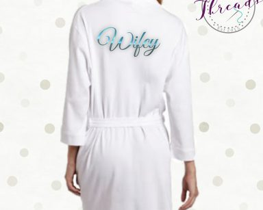 wifey cotton robe