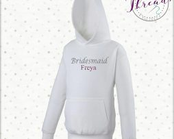 childrens bridesmaid wedding hoodie
