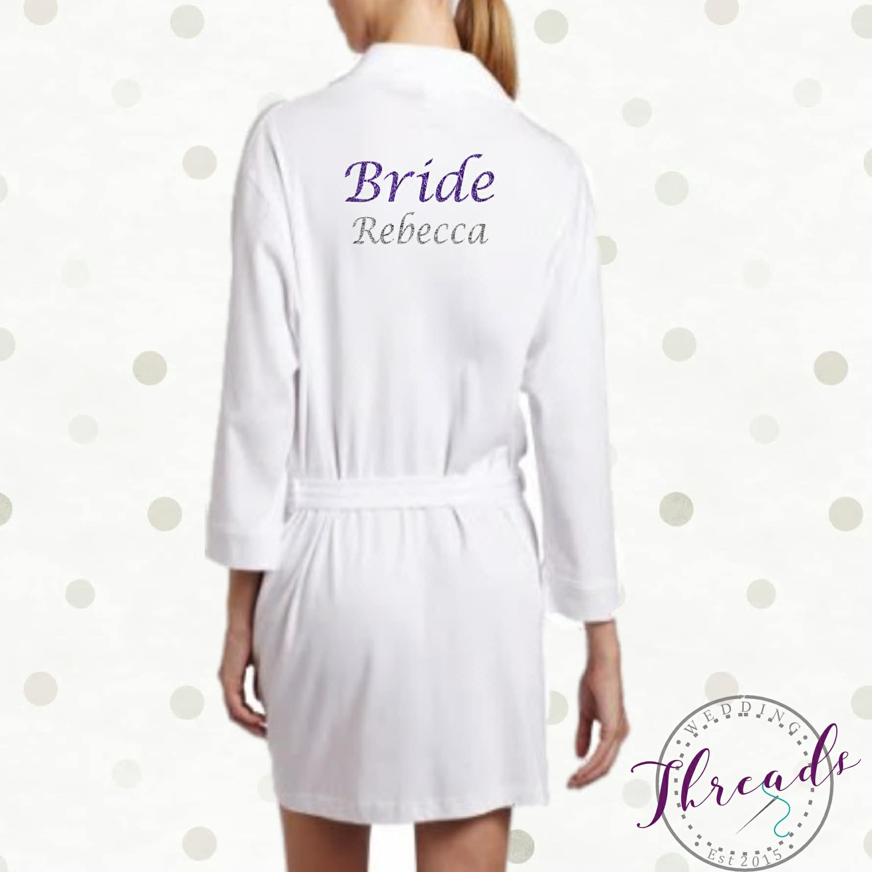 Personalised Bridal Robes Set. Bridal Party Robes / dressing gown ...
