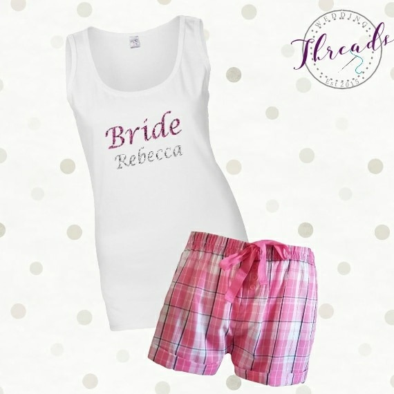 personalised bride pyjamas