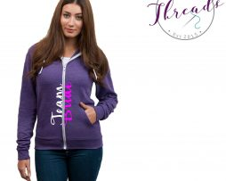 Personalised Team Bride zipped hoodie