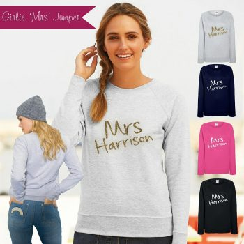 Girlie Mrs Jumper personalised