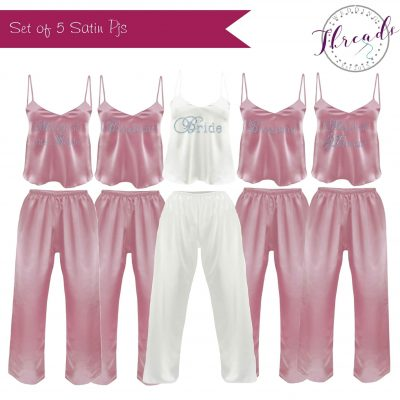 Personalised Bridal Satin pyjamas