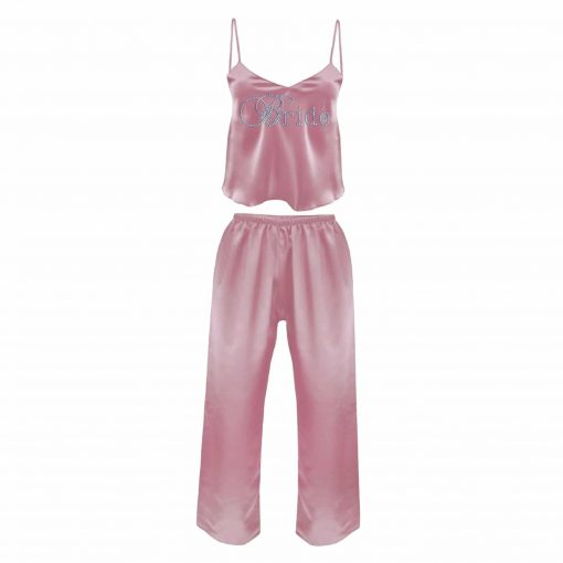 Personalised Bride Satin pyjamas