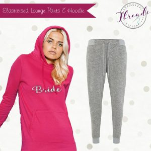 lounge pants and hoodie