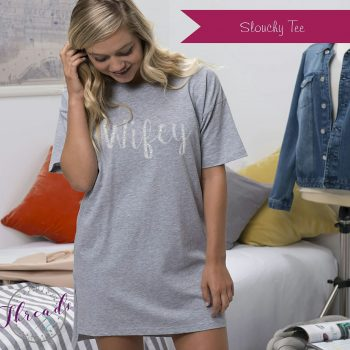 Personalised Bride Slouchy Tee