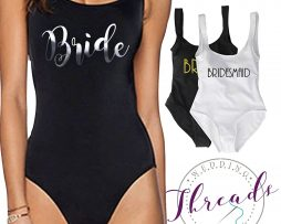 Personalised Wedding Swimming Costume