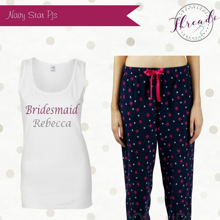 personalised bridesmaid pyjamas