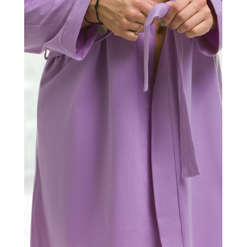 childs lilaccotton robe