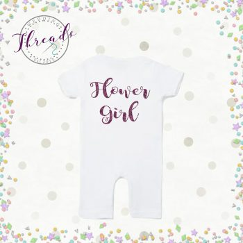 Personalised Baby flower girl romper