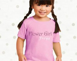 Personalised Childrens Flower Girl TShirt