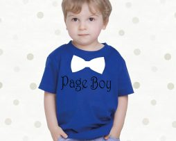 Personalised Childrens Page Boy TShirt