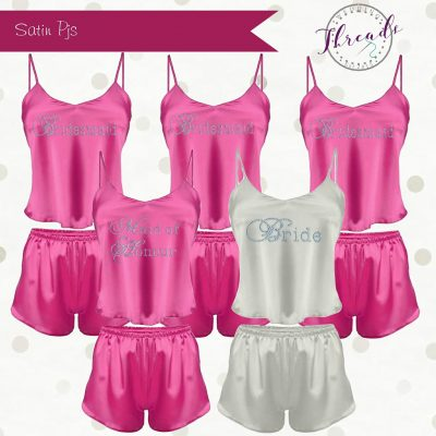 satin short pyjamas set