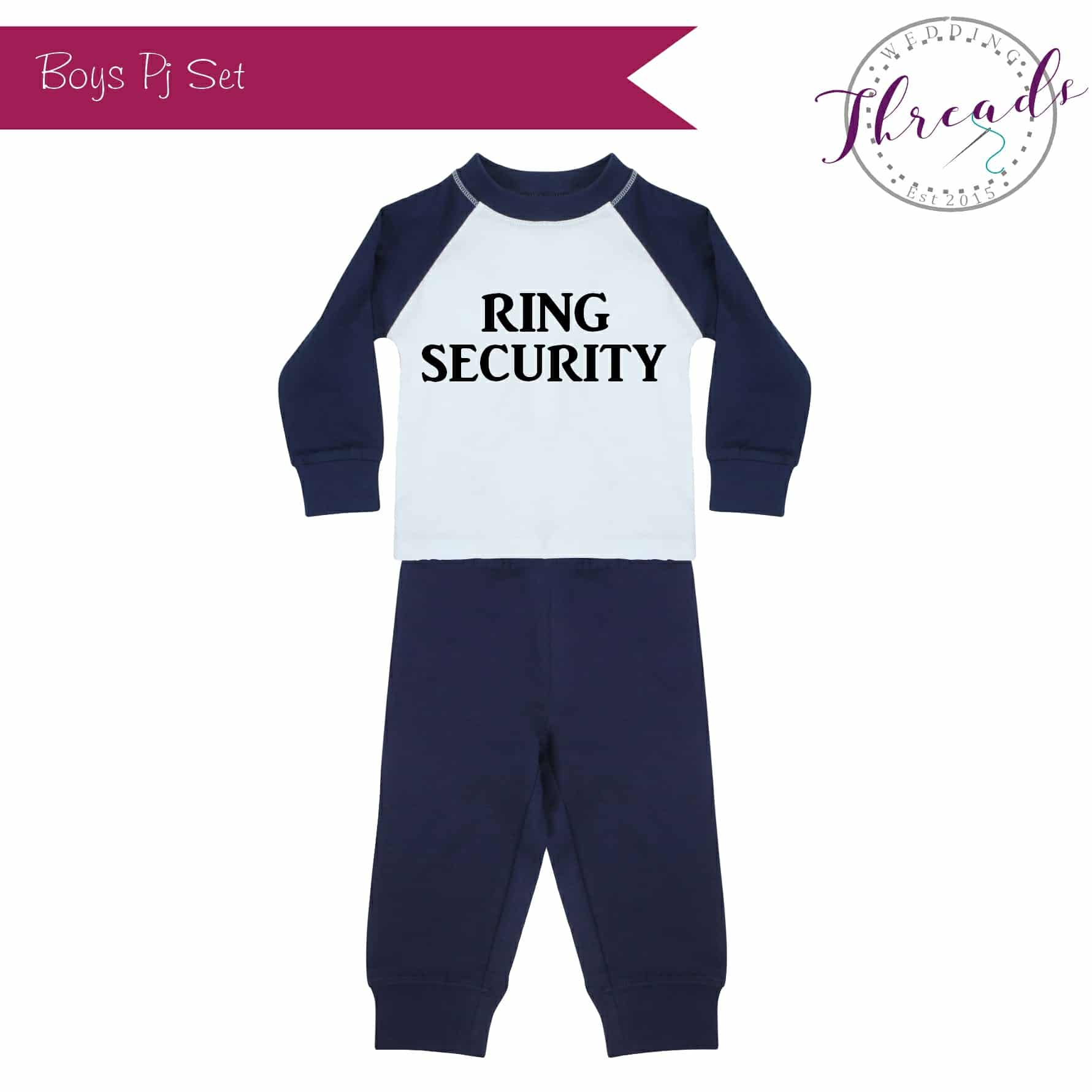 Boys Navy Wedding Pyjamas