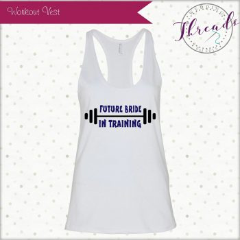 Personalised Gym wedding vest
