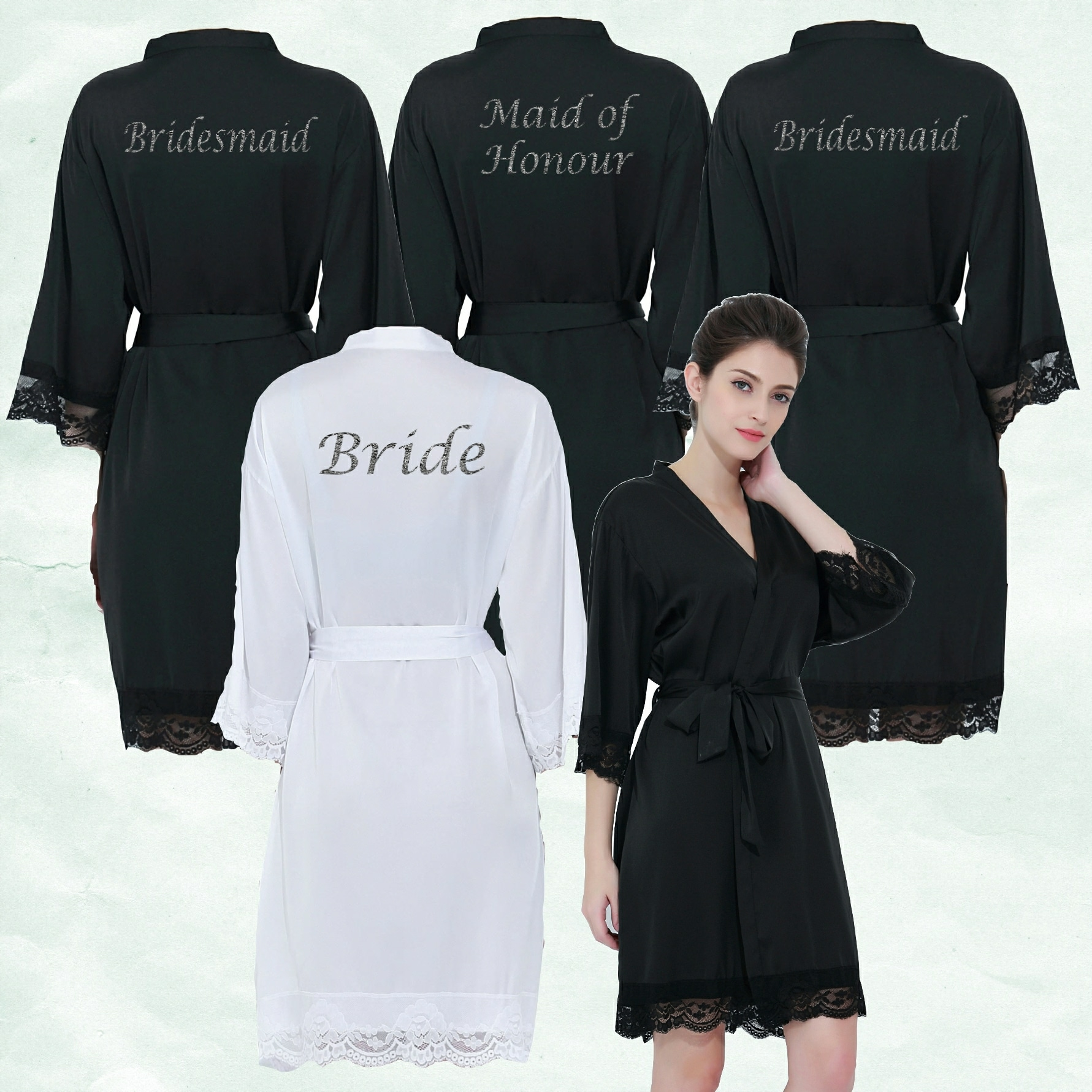 Black Lace Robes
