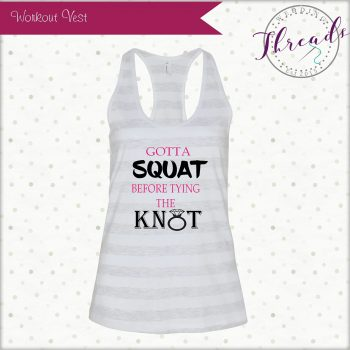 Gym wedding vest