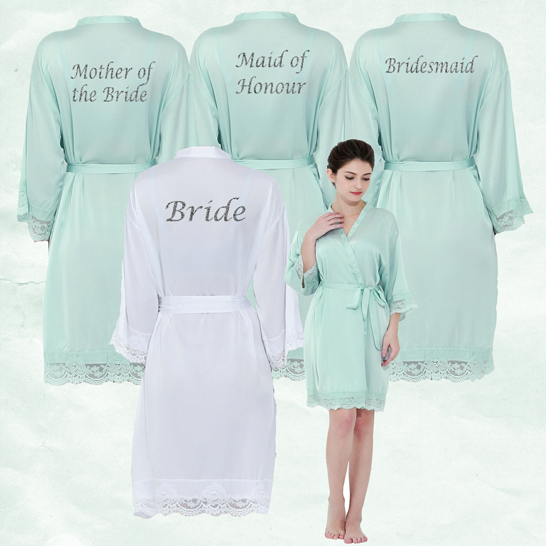 Colorful Personalised Dressing Gowns For Bridesmaids Ideas - All ...
