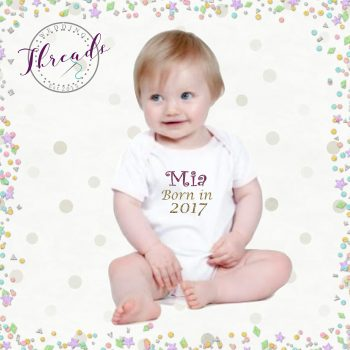 Personalised Baby shower vest