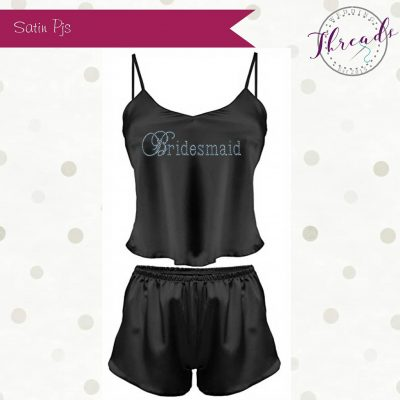 Black Short satin pyjamas