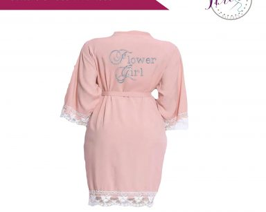 childrens cotton lace robe