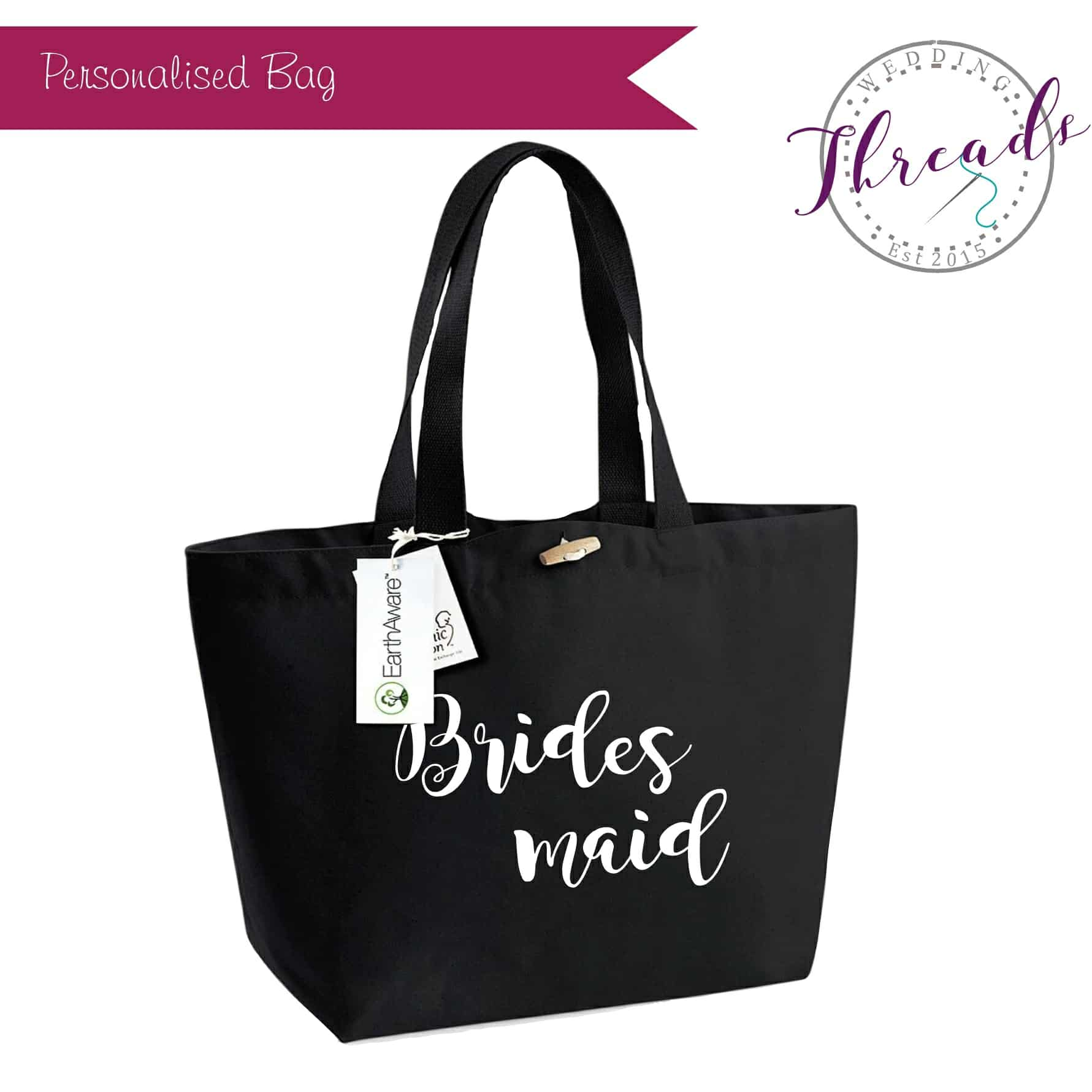 Bridesmaid wedding tote bag