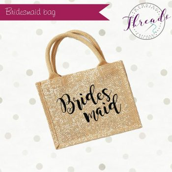 Bridesmaid personalised bag