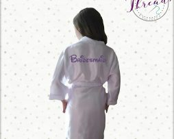 Childrens Bridesmaid satin robe